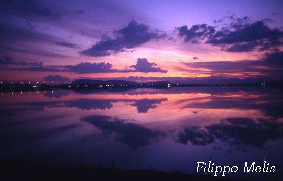tramonto sulle saline