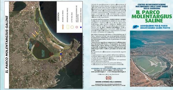 Pieghevole dell'Associazione per il Parco Molentargius Saline Poetto