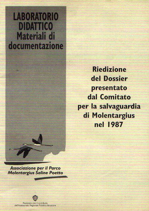 Riedizione Dossier Salvaguardia di Molentargius 1987