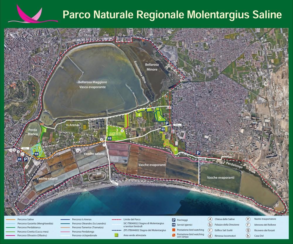 Mappa+del+Parco+Naturale+Molentargius-Saline+di+Cagliari