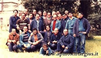 Foto ricordo lavoratori delle Saline di Cagliari