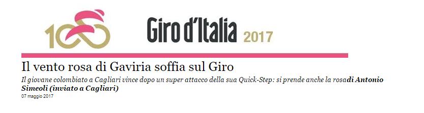 articolo giro d'Italia