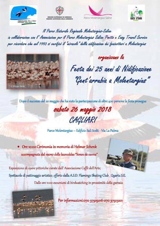 XSITO 1 Locandina - Festa dei 25 anni di Nidificazione-26 maggio 2018